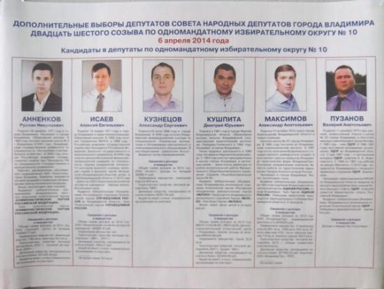 Кандидаты округ 10