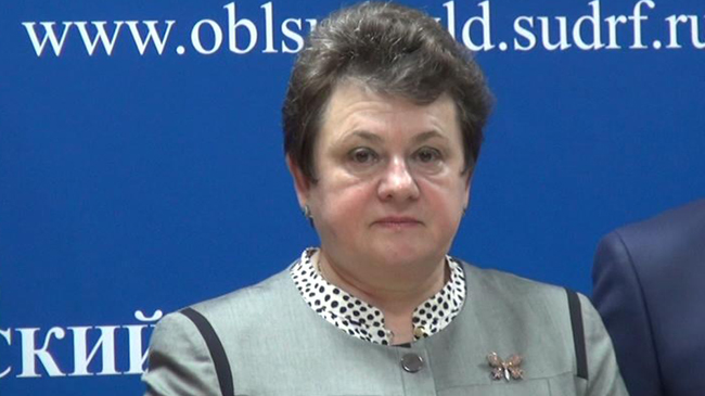 Светлана Орлова на брифинге, фото zebra-tv